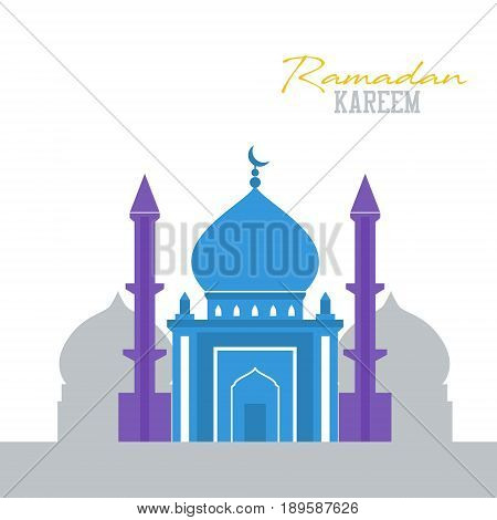 Islamic mosque flat design religious building isolated