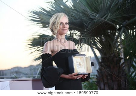 Diane Kruger, best actress for her part in the movie 'In The Fade' (Aus Dem Nichts), attends the Palme D'Or Winner Photocall during the 70th Festival de Cannes. May 28, 2017 Cannes, France