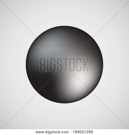 Black premium round bubble badge, sphere, ball, button template with realistic reflex and light background for logo, design concepts, banners, web, apps, prints. Vector illustration.