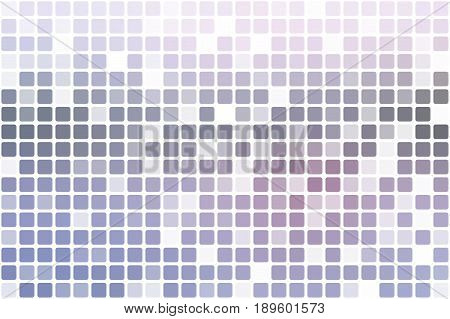 Pale pink grey blue occasional opacity vector square tiles mosaic over white background
