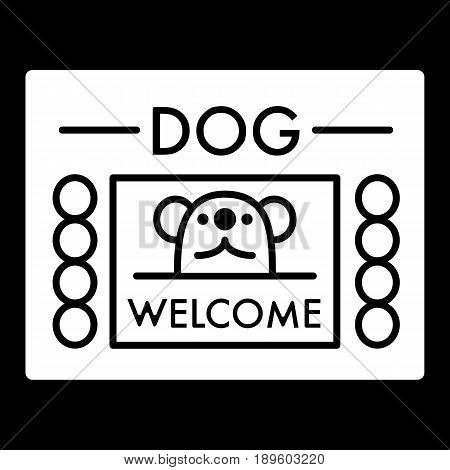 dog shelter simple vector icon. Black and white illustration of house for Homeless dogs. Solid linear icon. eps 10