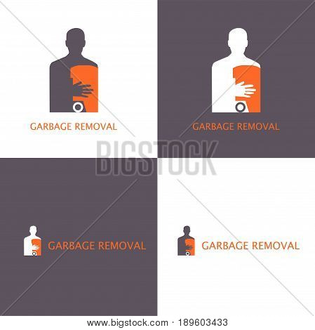 Vector eps logo design for garbage removal or louder company
