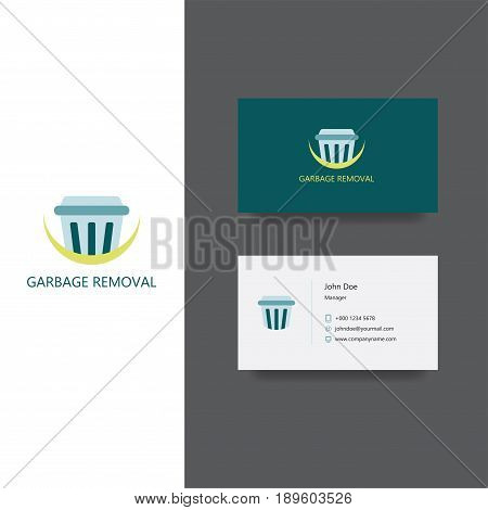 Vector eps logo design for garbage removal or louder company, Business Card Template, icon design