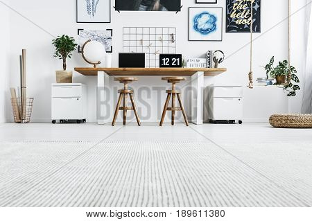 Hipster Home Office Interior