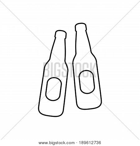 Beer Bootles Icon Simple Flat Style Vector Illustration