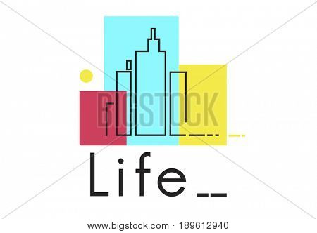 Urban Living City Lifestyle Society Graphic