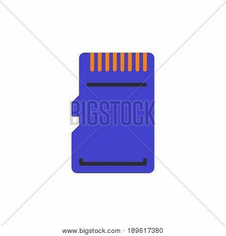Micro SD Card vector icon colorful sign