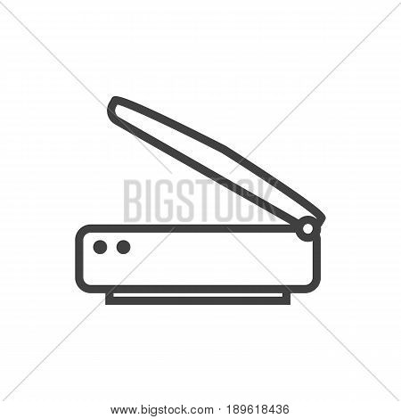 Isolted Photocopy Outline Symbol On Clean Background. Vector Scanner Element In Trendy Style.