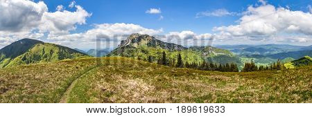 Panorama From Spring Little Fatra National Park, Slovakia