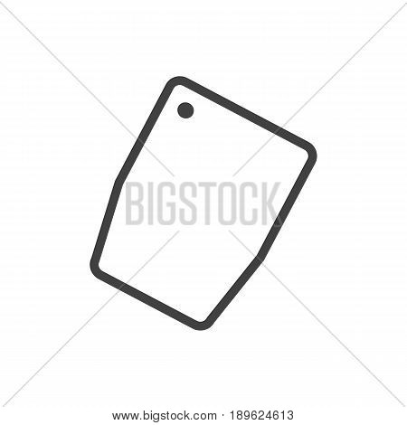 Isolted Cutting Surface Outline Symbol On Clean Background. Vector Chopping Board Element In Trendy Style.