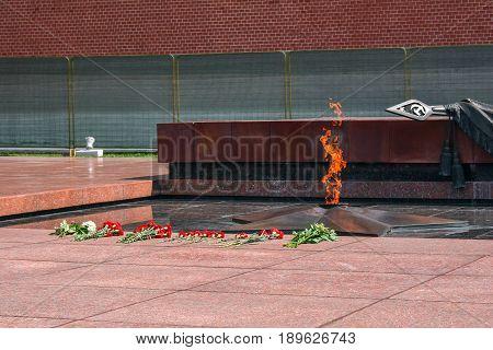 Eternal Flame in the Alexander Garden, Moscow