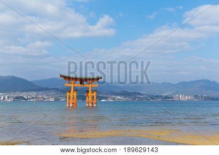 The great Torii of Itsukushima Shrine.