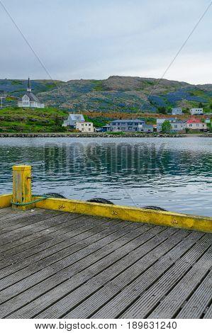 Fishing Port And The Church In Holmavik