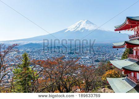 Mount Fuji and Chureito Pagoda