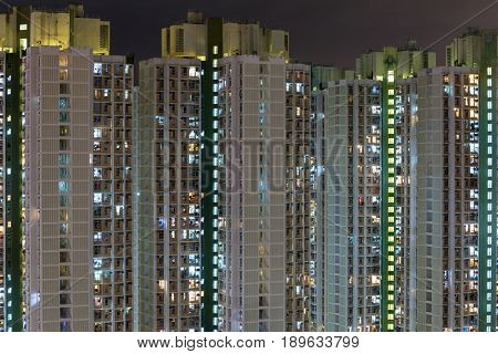 High rise apartment building