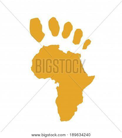Africa map illustration art design on white