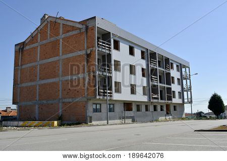 Construction left unfinished and abandoned by bankrupt builders