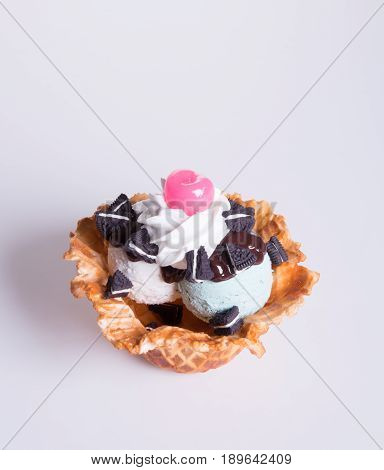 Ice Cream Scoop Or Mixed Ice Cream Scoops Ice Cream On Background.