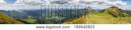 Amazing Spring Hilly Landscape - Slovak Little Fatra Hills