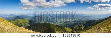 Panorama From Little Fatra Hills National Park Ridge