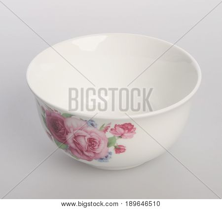 Bowl Or Ceramic Bowl On A Background.