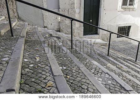Black Stone Staircase