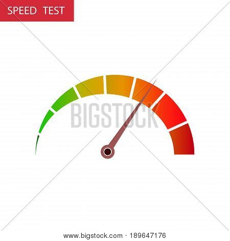 Speed test arrow vector icon illustration. High and low