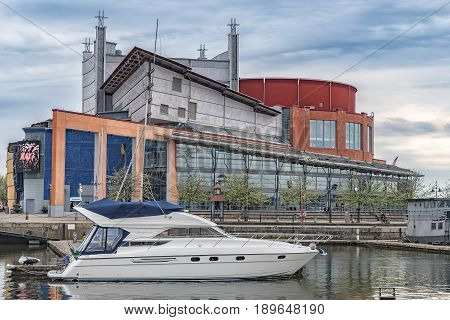 GOTHENBURG SWEDEN - MAY 13 2017: Gothenburg Opera House at Nordstaden in Gothenburg Sweden