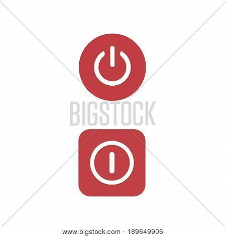 Shut down button vector illustration.Button on system unit