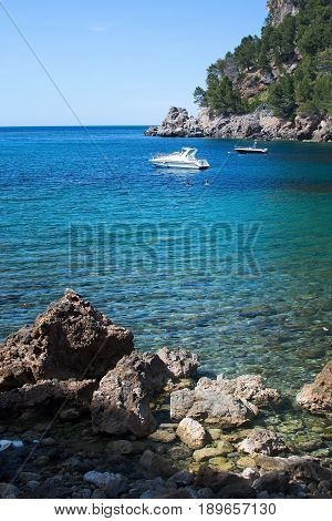 Moored Boat And Sea Mallorca