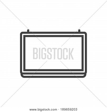 Isolted Blackboard Outline Symbol On Clean Background. Vector School Board Element In Trendy Style.