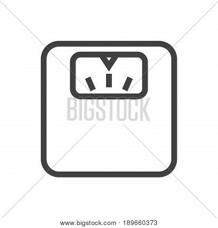 Isolted Body Balance Outline Symbol On Clean Background. Vector Scales  Element In Trendy Style.