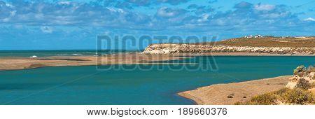 Ocean Cost Landscape Of Valdes, Patagonia, Argentina