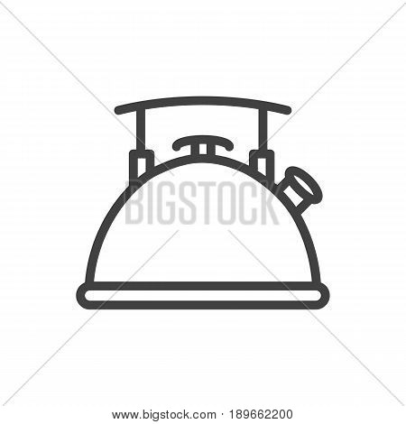 Isolted Teapot Outline Symbol On Clean Background. Vector Kettle Element In Trendy Style.