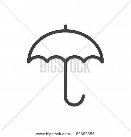 Isolted Insurance Outline Symbol On Clean Background. Vector Protect  Element In Trendy Style.