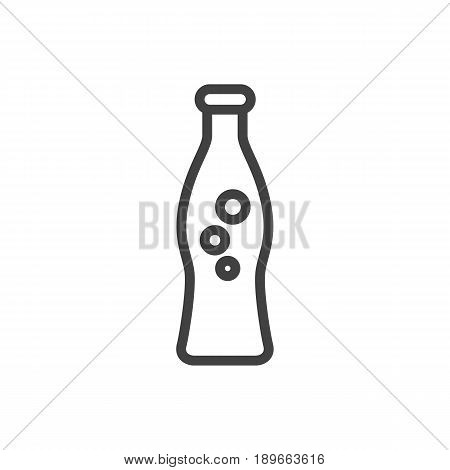 Isolted Fizzy Water Outline Symbol On Clean Background. Vector Soda Element In Trendy Style.