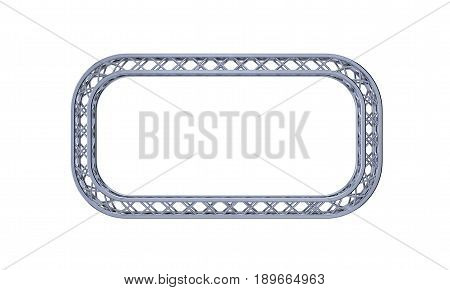 Truss frame in form of rectangle. Isolated on white background.3D rendering illustration.