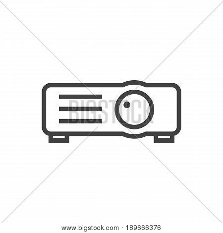 Isolted Show Outline Symbol On Clean Background. Vector Projector Element In Trendy Style.