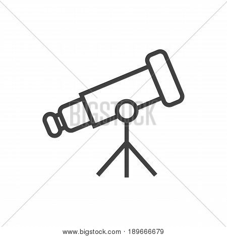 Isolted Binoculars Outline Symbol On Clean Background. Vector Telescope Element In Trendy Style.