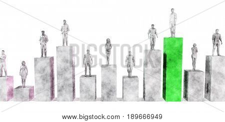 Climb the Corporate Ladder as a Business Concept