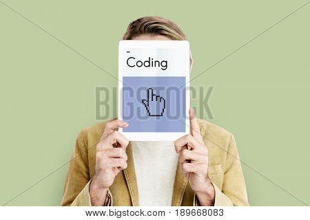 Web design programming hand cursor icon