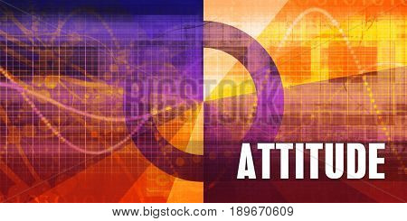 Attitude Focus Concept on a Futuristic Abstract Background