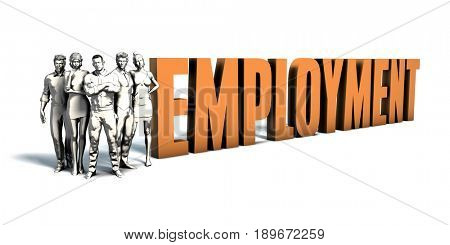 Business People Team Focusing on Improving Employment as a Concept 3D Illustration Render