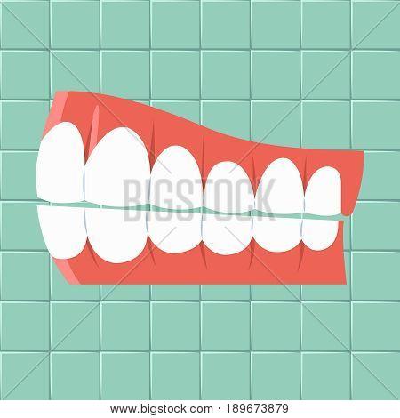 Dental. Oral hygiene background Flat design Vector illustration