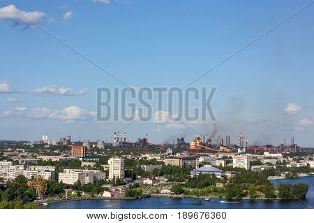 View Of Nizhny Tagil From The Top Of Fox Mountain