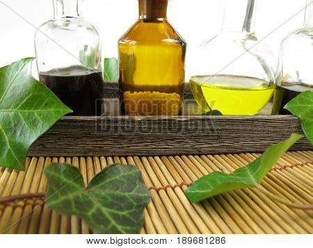 Medicine with ivy in nature healing with