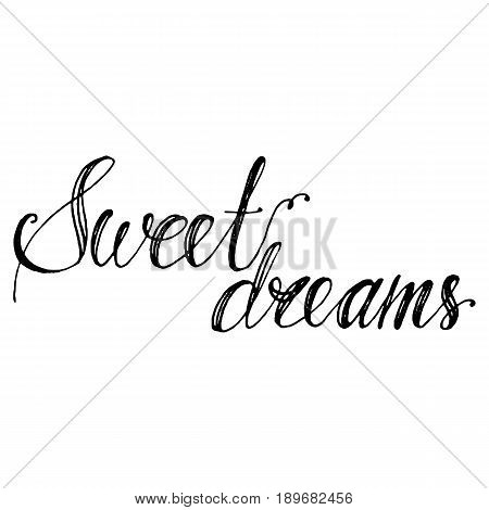 Hand drawn vector lettering. Isolated vector illustration. Handwritten modern calligraphy. Inscription for postcards, posters, prints, greeting cards.