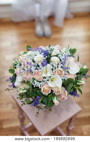 Bridal Bouquet Of Flowers Ready For A Wedding Day
