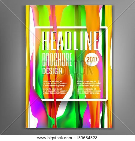 Futuristic dynamic design with Fluid colors. Magazine cover template with Liquid color, flyers, leaflets, presentation covers, the annual report. Vector illustration.