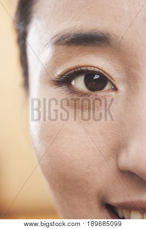 Close up of Chinese woman's eye